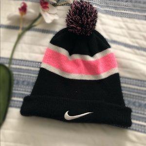 NIKE Beanie Hat Black & Pink